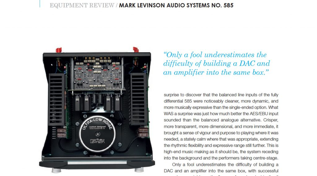 Hifi+ review ML NO.585