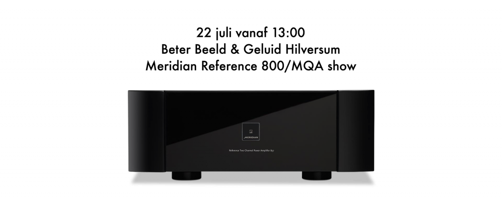 Meridian Reference 800/MQA show